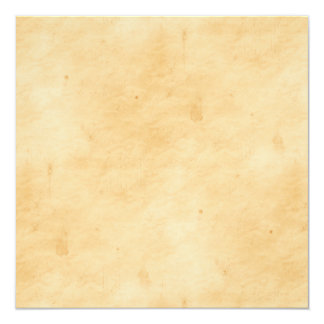 Old Parchment Background Stained Mottled Look 13 Cm X 13 Cm Square Invitation Card