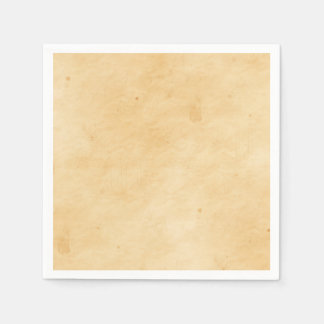 Old Parchment Background Stained Mottled Look Disposable Napkins