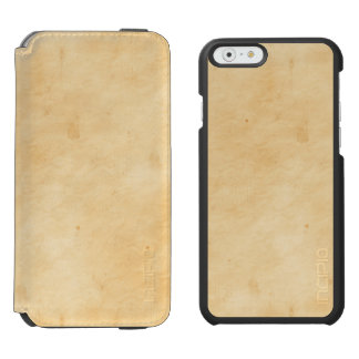 Old Parchment Background Stained Mottled Look Incipio Watson™ iPhone 6 Wallet Case