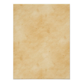 Old Parchment Background Stained Mottled Look Poster