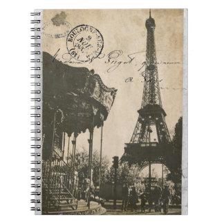 old paris post card notebook