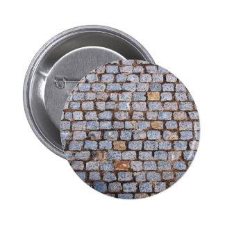 Old pavement tiles 6 cm round badge