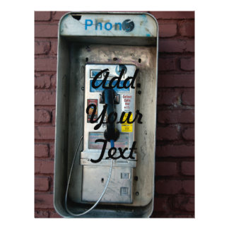 old pay phone 21.5 cm x 28 cm flyer