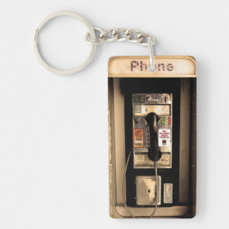 Old Pay Phone Acrylic Key Chains
