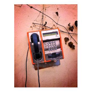 Old Payphone Still Life Postcard