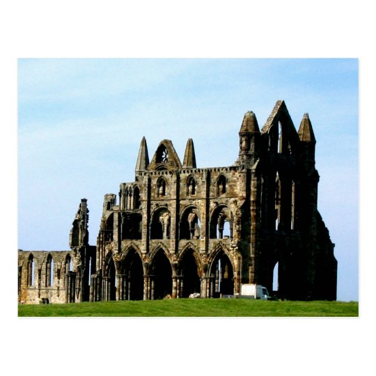 Old peace and story whitby abbey postcard
