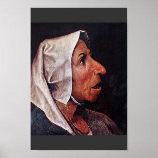 Old Peasant Woman By Bruegel D. Ä. Pieter Poster