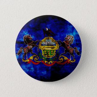 Old Pennsylvania Flag; 6 Cm Round Badge