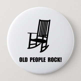 Old People Rock 10 Cm Round Badge