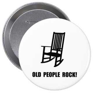 Old People Rock 10 Cm Round Badge