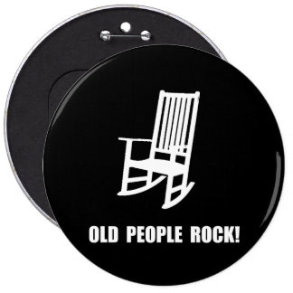 Old People Rock 6 Cm Round Badge