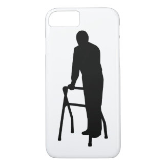 Old person man walking frame iPhone 7 case