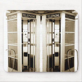 Old Phone Booth Photograph Mouse Pad