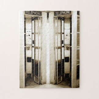 Old Phone Booths Photograph Jigsaw Puzzle