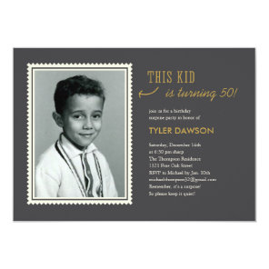 Old Photo Surprise Birthday Party Invitations
