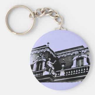 Old Photo Versailles Basic Round Button Key Ring
