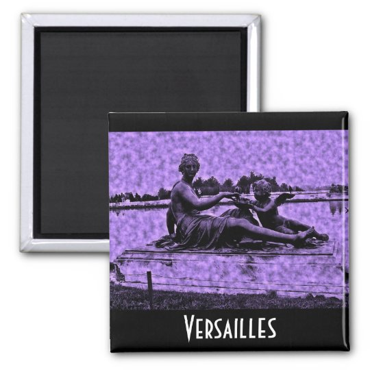 Old Photo Versailles Fountain Square Magnet