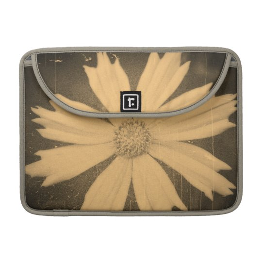 Old photo Yellow Cosmos Flower Close-up Sleeve For MacBooks