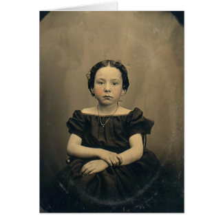 Old Phtograph of a Victorian Girl Card