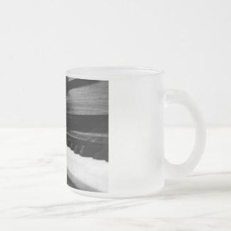 Old Piano Frosted Glass Mug
