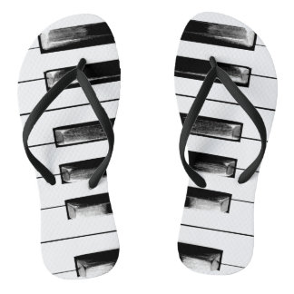 Old Piano Keys Funny Cool Flip Flops