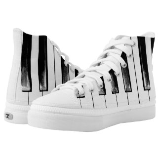 Old Piano Keys Funny Cool High Tops