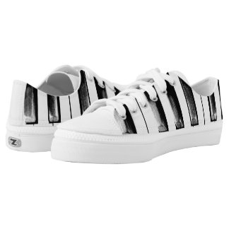 Old Piano Keys Funny Cool Low Tops