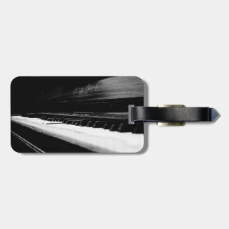 Old Piano Luggage Tag