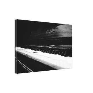 Old Piano Stretched Canvas Prints