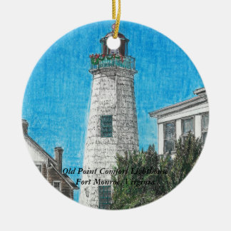 Old Point Comfort Lighthouse Christmas Ornament