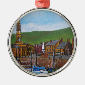 Old Port  Glasgow Harbour Silver-Colored Round Decoration