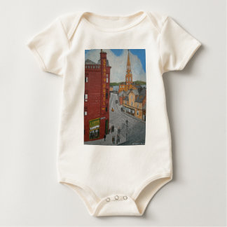 Old Port Glasgow with Town Clock Baby Bodysuit
