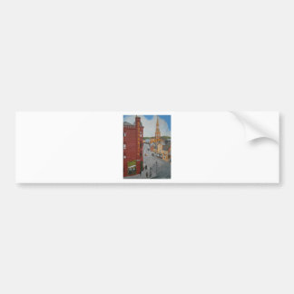 Old Port Glasgow with Town Clock Bumper Sticker
