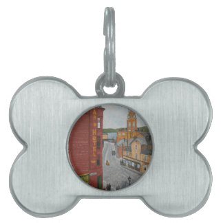 Old Port Glasgow with Town Clock Pet ID Tag