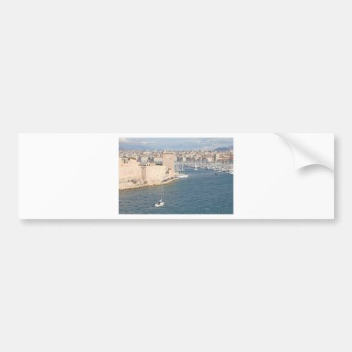 Old port of Marseilles Bumper Stickers