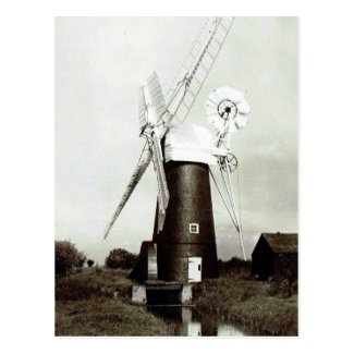 Old Postcard - A Norfolk Windmill