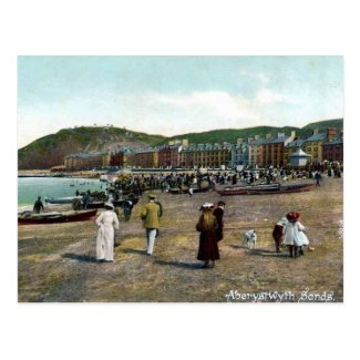 Old Postcard - Aberystwyth Sands