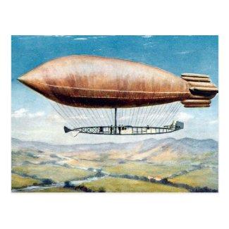 Old Postcard - Airship - La Ville de Paris.