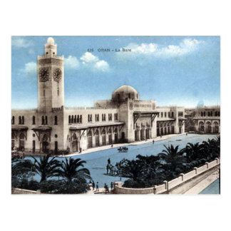 Old Postcard - Algeria - Oran - Railway Station