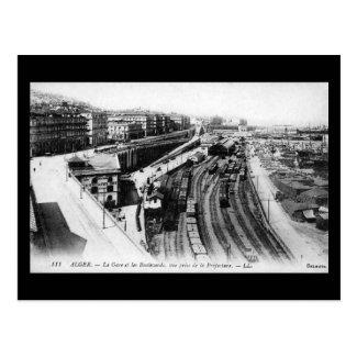 Old Postcard - Algiers Railway Station