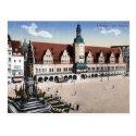 Old Postcard - Altes Rathaus, Leipzig