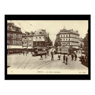 Old Postcard - Amiens - Place Gambetta