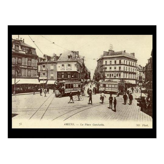 Old Postcard - Amiens - Place Gambetta