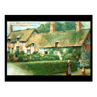 Old Postcard, Anne Hathaway's Cottage, Shottery