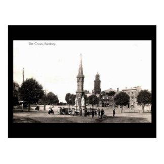 Old Postcard - Banbury Cross, Oxfordshire