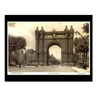 Old Postcard, Barcelona, Arco de Triunfo