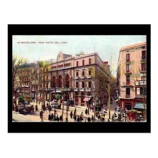 Old Postcard, Barcelona, Gran Teatro del Liceo