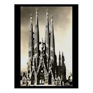 Old Postcard - Barcelona, Sagrada Familia