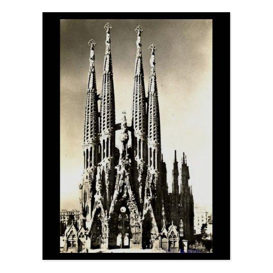 Old Postcard - Barcelona, Sagrada Familia