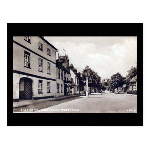 Old Postcard - Bear Hotel, Woodstock, Oxfordshire